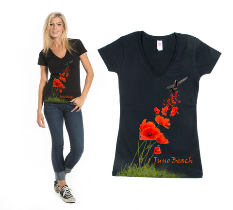 Ladies Coquelicot Juno T-Shirt