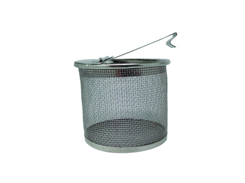 "BB1 - Burr Basket, stainless steel 2"" round with closing lid"