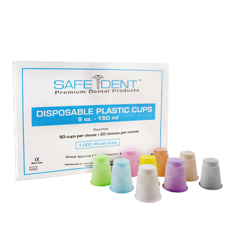 Plastic Disposable 5 oz. Cups - Grey