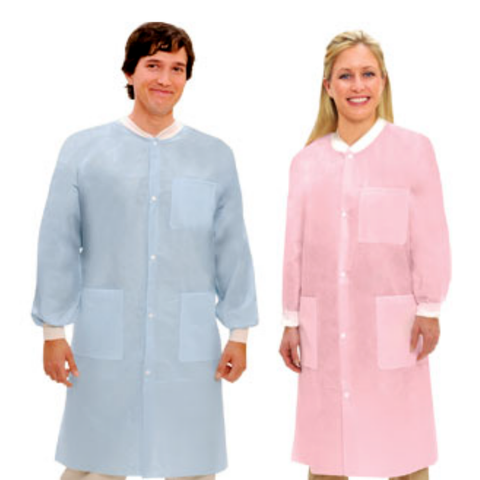 Extra-Safe™ Disposable Lab Coats – Knee Length