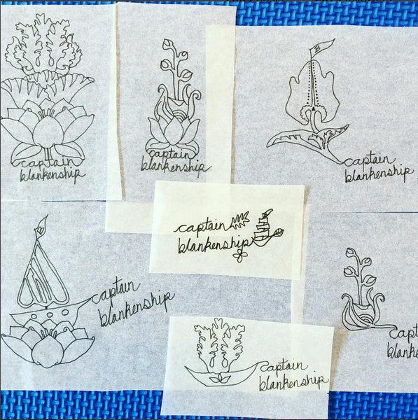 Captain Blakenship Original Logo Sketches