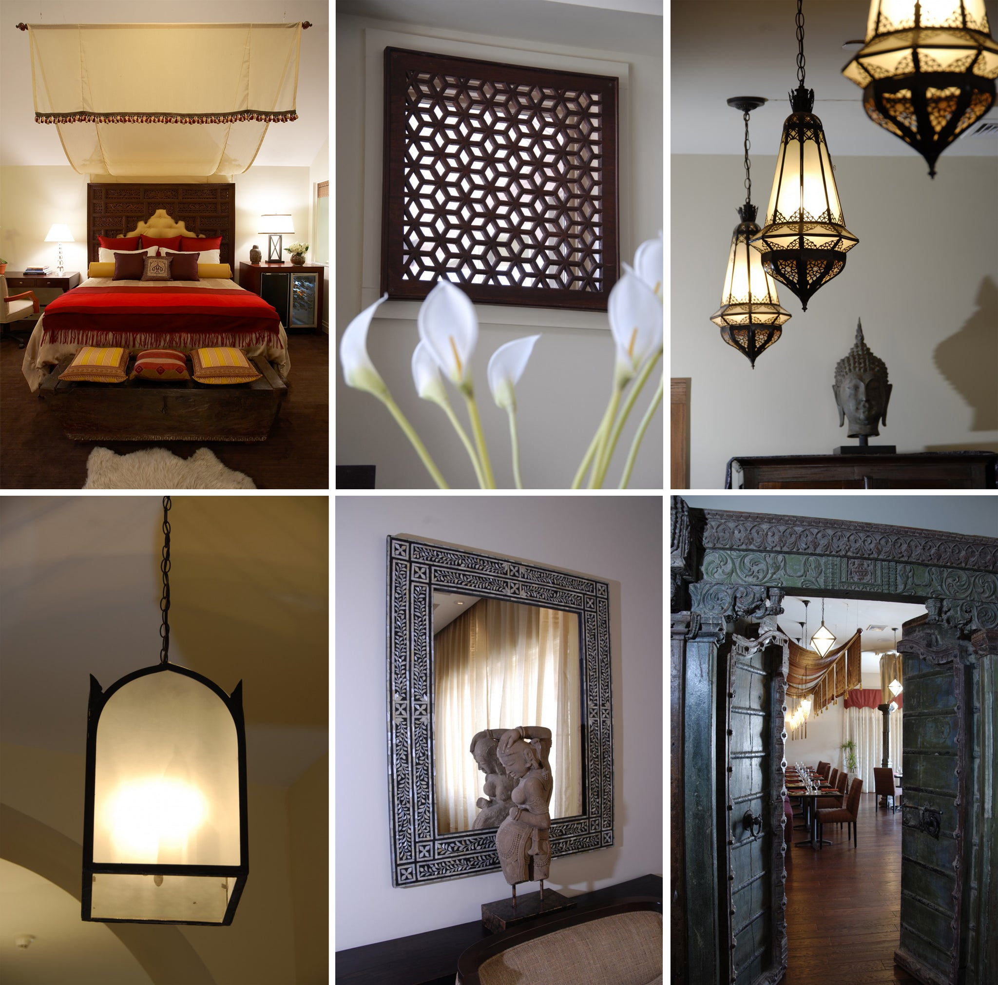 Emerson Resort and Spa Mount Tremper Hudson Valley New York Indian Furniture Headboard Moroccan Lighting