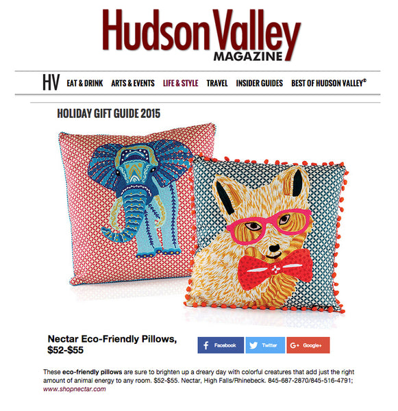 Hudson Valley Magazine Karma Living Pillow Feature Holiday Gift Guide 2015