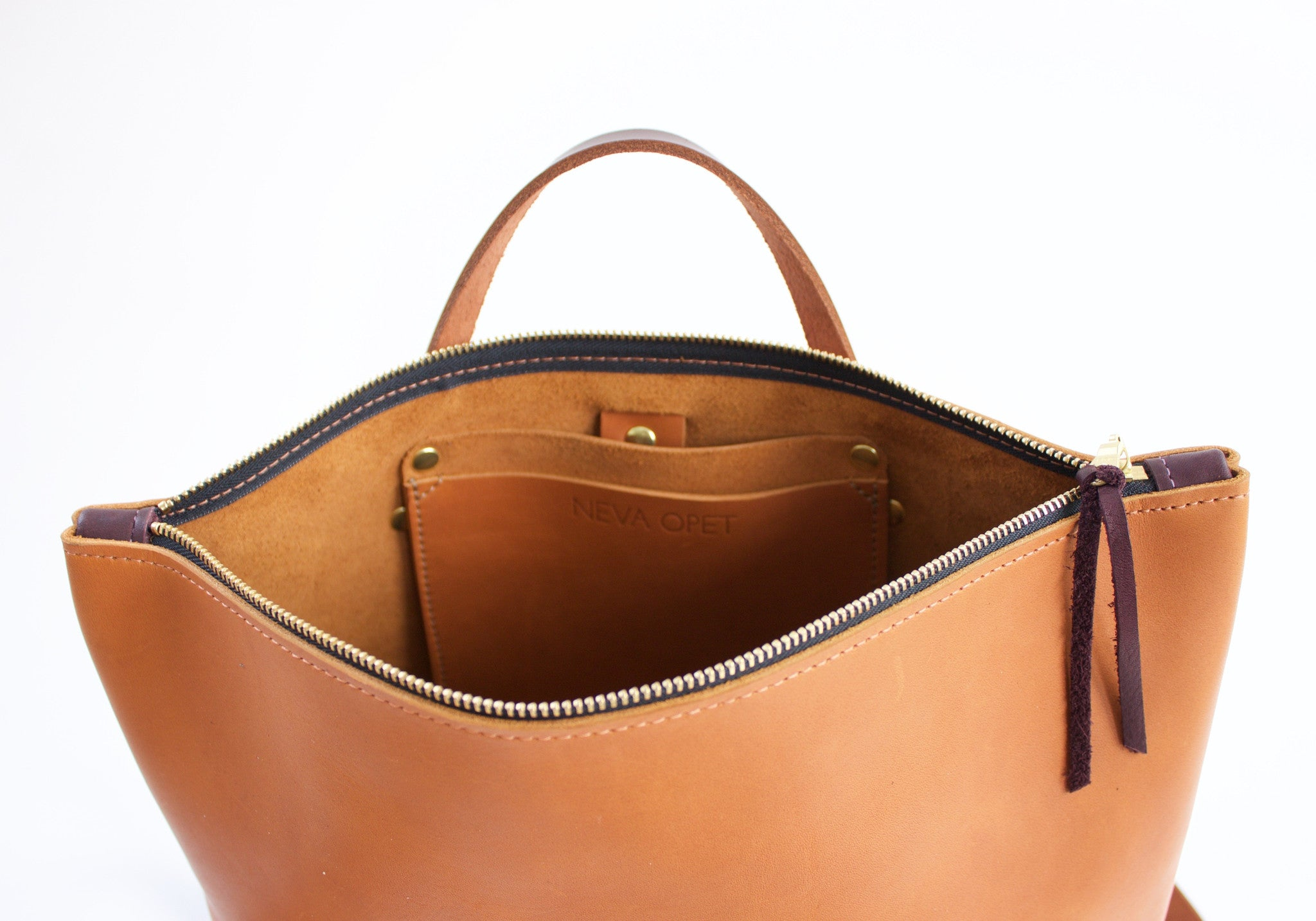 Neva Opet Exclusive Interview Rachael Supplier Spotlight Leather Bag Detail
