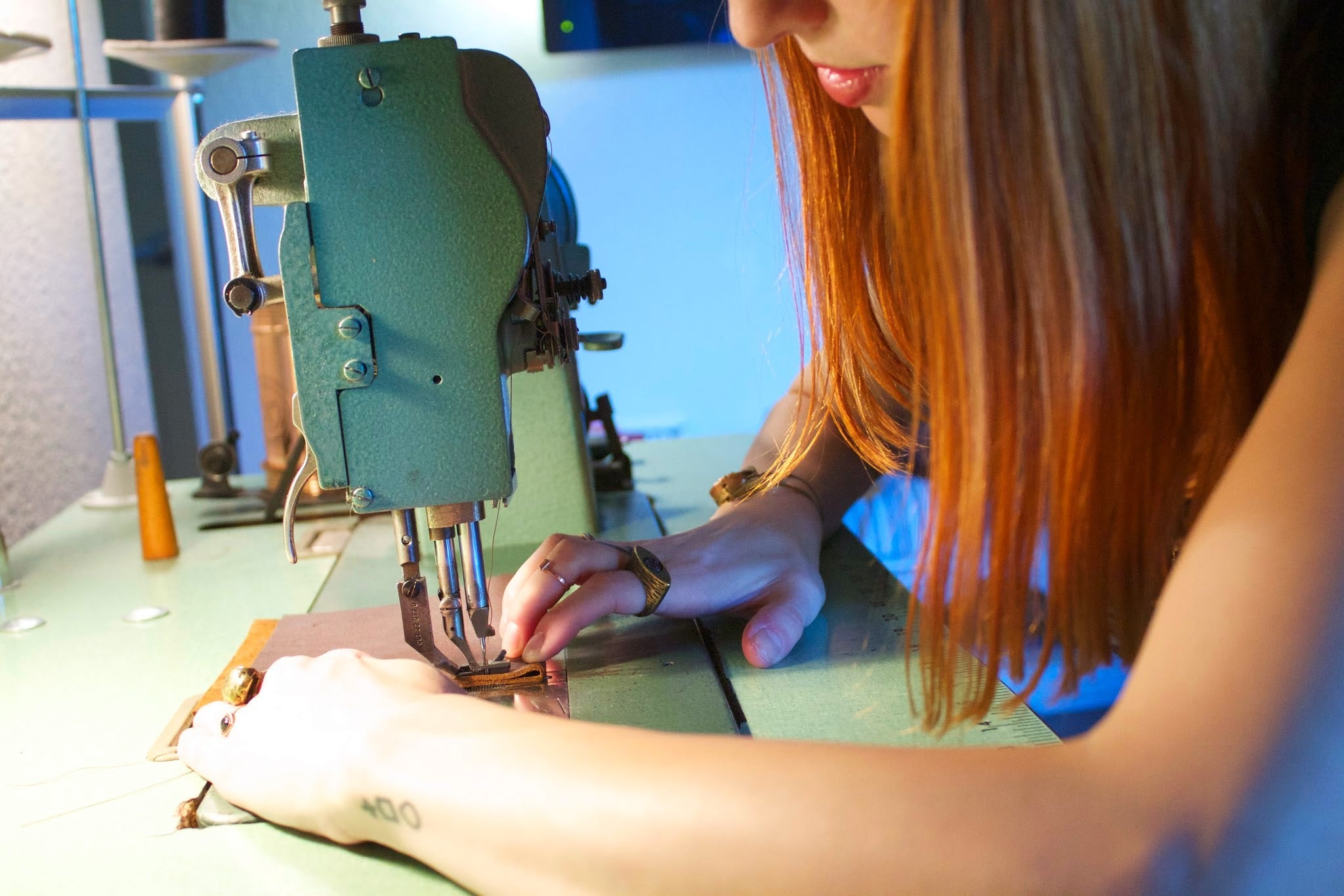 Neva Opet Rachel Riedinger Handcrafted Leather Bags in the Studio