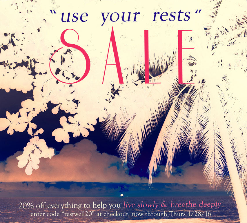Winter 2016 Use Your Rests Sanctuary Sacred Space Sale