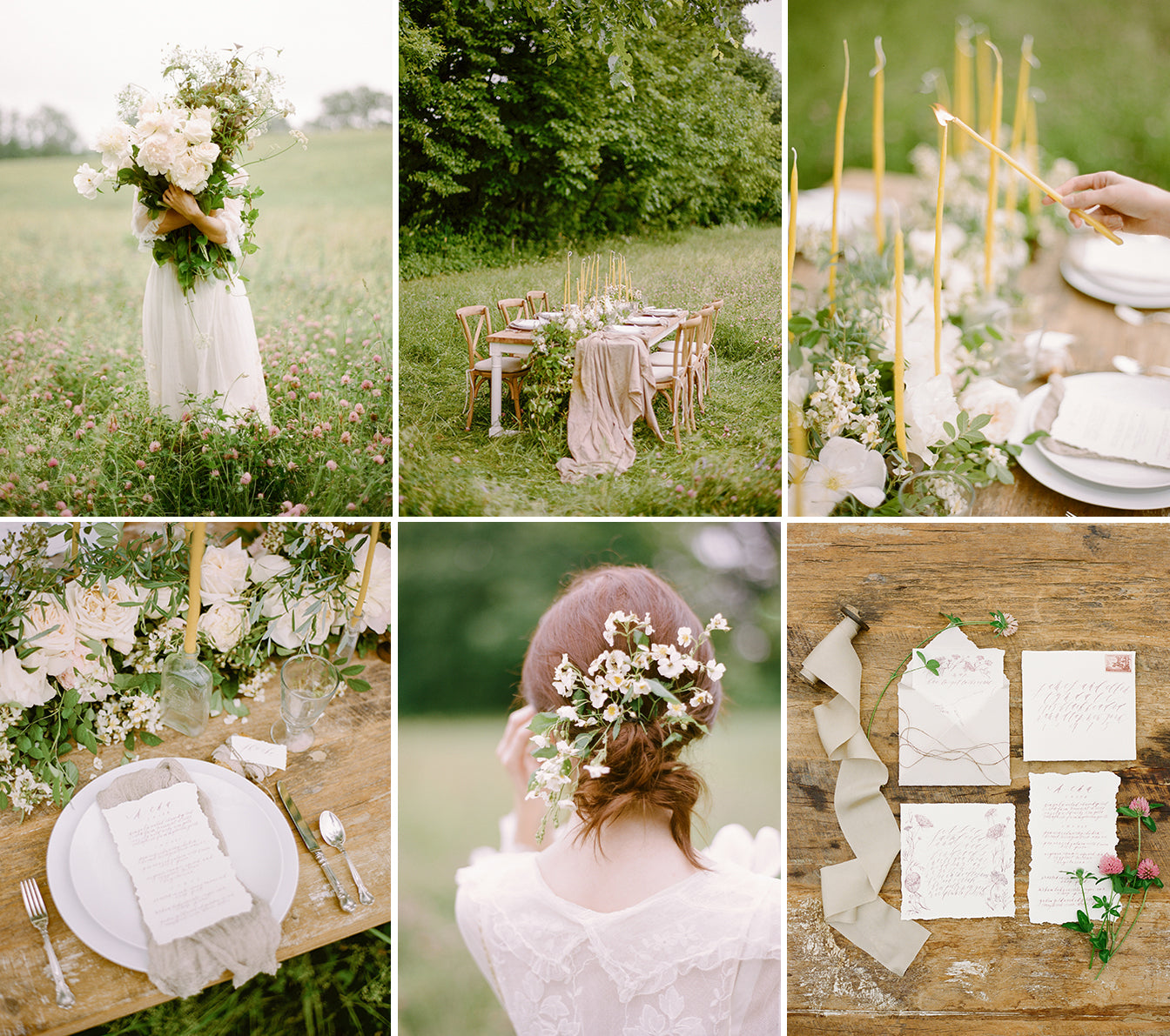 A stunning photo shoot of a perfect wedding day spread, featuring table, chairs, glassware & flatware by Nectar. Coordinated, styled and dreamt up by Silk & Willow, shot by Rebecca Yale.