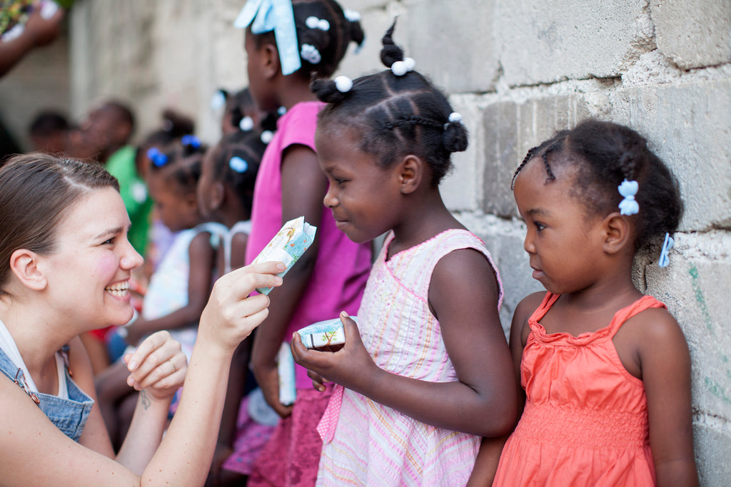 Zofia Hand in Hand Soap Donation to Children in Haiti