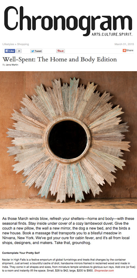 Chronogram Features Nectar's Reclaimed Wood Mirrors