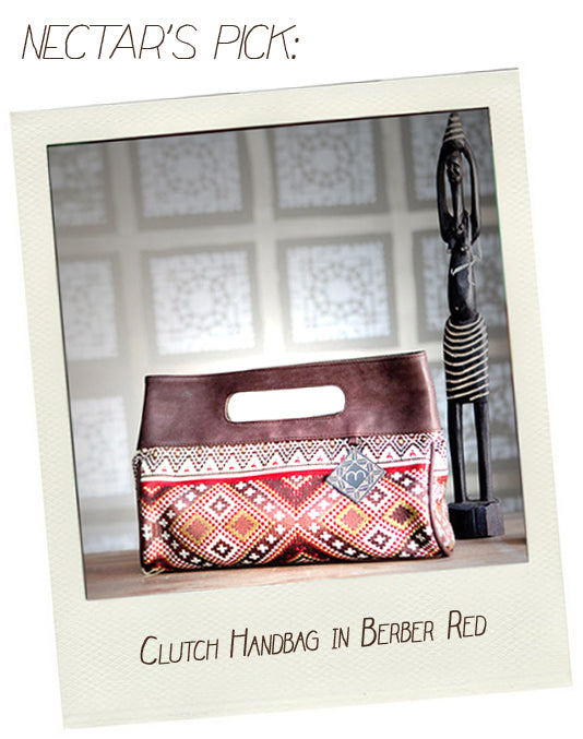 Fair Trade Mushmina Clutch Handbag in Berber Red