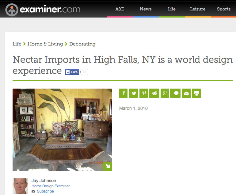 Examiner.com Features Nectar as A World Design Experience
