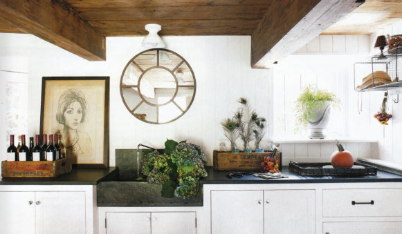 May 2010 Elle Decor Feature: Marble Farmhouse Sink