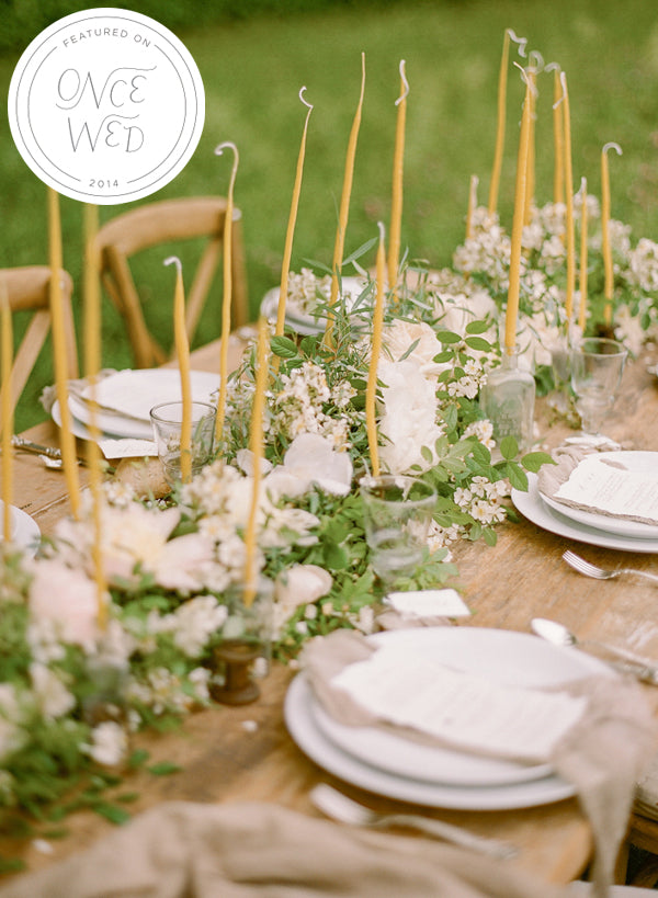OnceWed.com - Delicate Wildflower Wedding Ideas Feature!