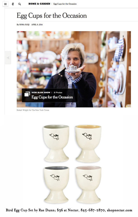 New York Times Features our Rae Dunn Egg Cups!