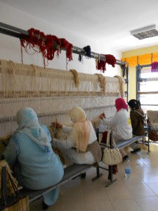 Moroccan Weavers make fair wages for Fair Trade company Mushmina