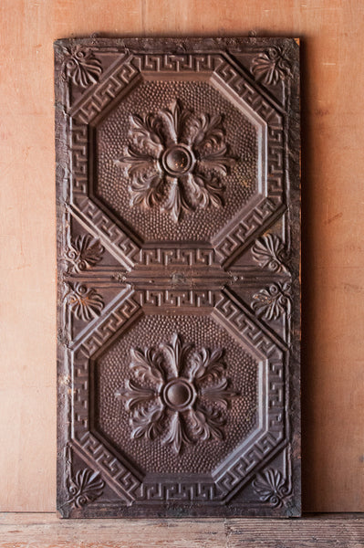 Rectangular Iron Ceiling Tile Wall Hanging - Decorative Panels - Shop Nectar - 1