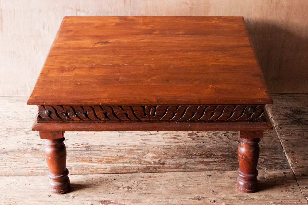 Indian Coffee Table Indian Bajot Reclaimed Square Wood Coffee Table Shop Nectar