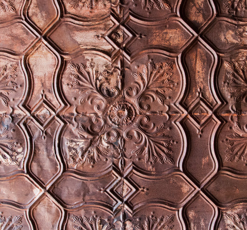 Square Iron Ceiling Tile Wall Hanging or Headboard - Decorative Panels - Shop Nectar - 3