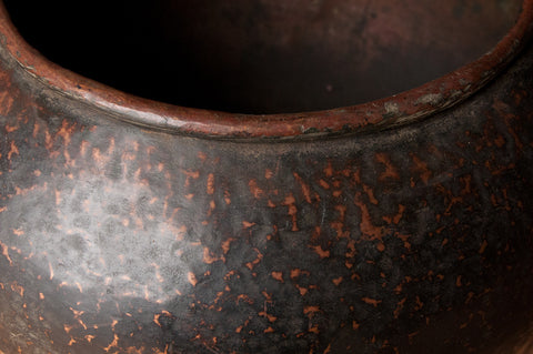 Large Antique Patinated Copper Pot - Pots - Shop Nectar - 3