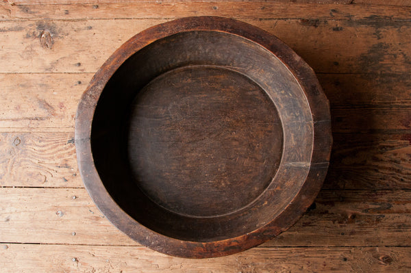 Salvaged Wood Dough Bowl - bowls, kitchen-dining, one-of-a-kind, reclaimed-wood, round, tabletop-dinnerware-1, wood