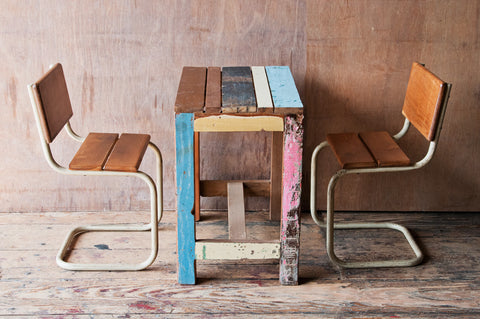 Children's Reclaimed Patchwork Table - Kids Furniture - Shop Nectar - 5