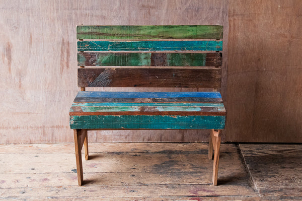 Children's Reclaimed Patchwork Bench - Kids Furniture - Shop Nectar - 1