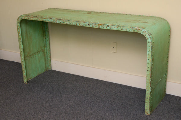 Green Industrial Steel Console - Accent Consoles - Shop Nectar - 1