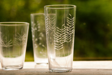 Roost Etched Botanical Glasses - Glass Collections - Shop Nectar - 5