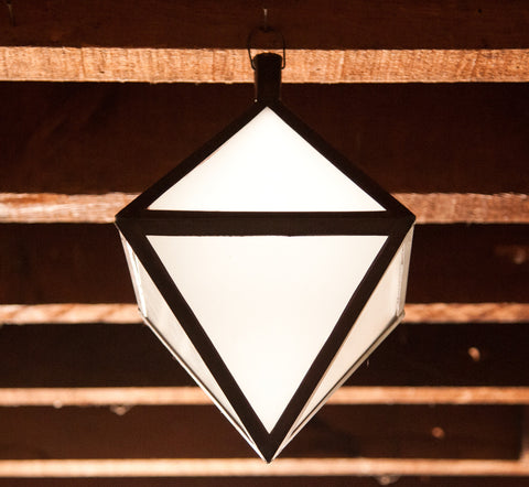 Diamond Pendant Lanterns - ceiling light, ceiling lights, chandelier, diamond, free shipping, hanging lantern, hanging light, hanging lights, India, Indian, lantern, lanterns, Light, lighting, lights, Morroco, pendant light, pendant lights, pendants, pendants-chandeliers