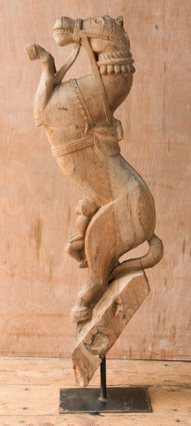Carved Wooden Horse Sculpture - Sculptures - Shop Nectar - 1