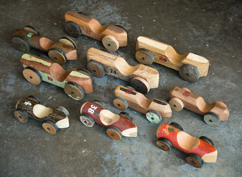 Large Reclaimed Wooden Race Car - eco, India, one-of-a-kind, Reclaimed, reclaimed-wood, toys, toys-games
