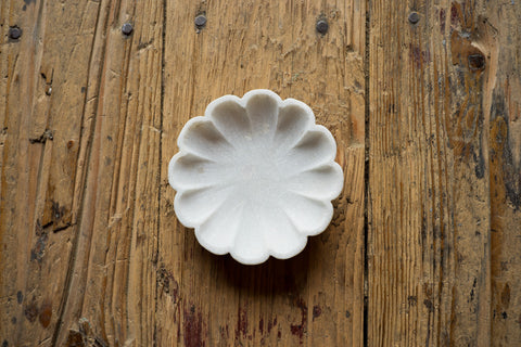 Small Marble Lotus Bowl - Bowls - Shop Nectar - 2