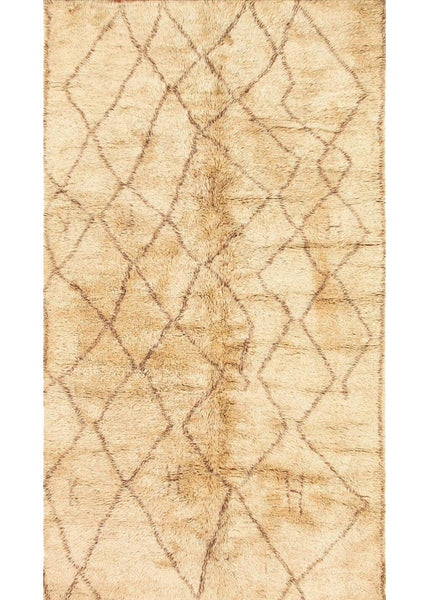 Beni Ourain Diamonds on Ivory Moroccan Rug - accent-details, apadana, decor, hand knit, Hand Loomed, Hand Woven, handmade, Moroccan, Moroccan decor, moroccan lantern, Moroccan rug, Moroccan rugs, Morocco, one-of-a-kind, rug, rugs, rugs-runners, textile, vintage, wool