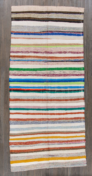 Hand Knit Kilim Stripes Multi Color Rug from Turkey - accent-details, apadana, decor, hand knit, Hand Loomed, Hand Woven, handmade, kilim, one-of-a-kind, rug, rugs, rugs-runners, textile, turkey, turkish, wool