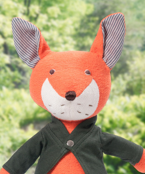 Hazel Village Owen Fox - baby-shower-gifts, dolls, dolls-stuffed-animals, Fleece, Fox, gifts for kids, gifts-for-the-occasion, Hazal, hazal village, Hazel Village, organic-cotton