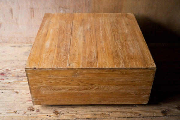 Reclaimed Wood Cube Coffee Table - coffee-end-tables, coffee-tables, Eco, furniture, Handcrafted, handmade, India, living room furniture, new-nectar-exclusives, one-of-a-kind, reclaimed, Table, wood
