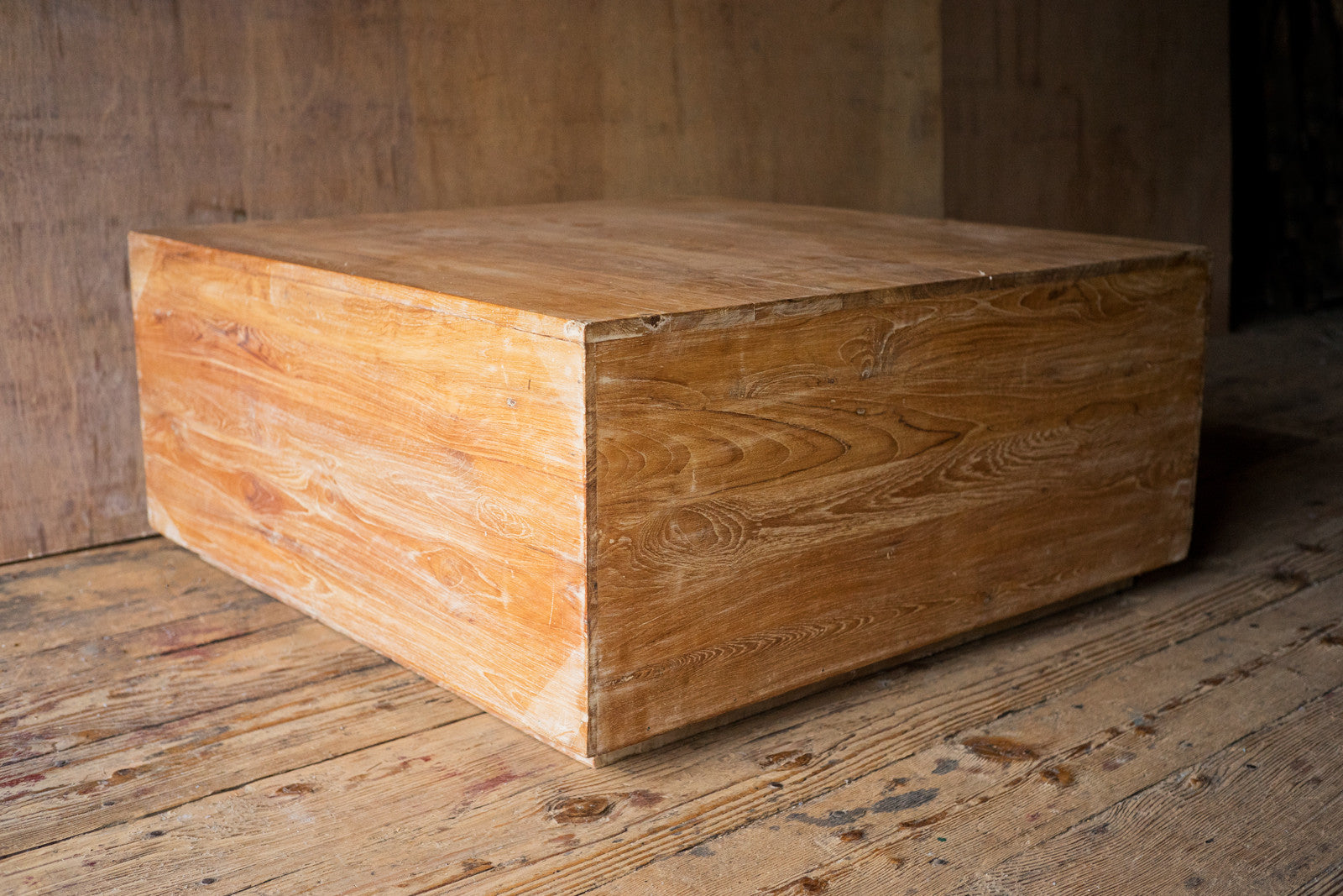 Reclaimed Wood Cube Coffee Table Shop Nectar