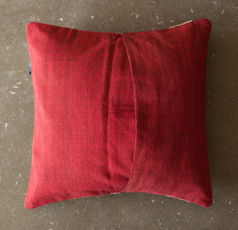 Yoyamay Black and Red Handmade Fair Trade Pillow - Decorative Pillows - Shop Nectar - 3