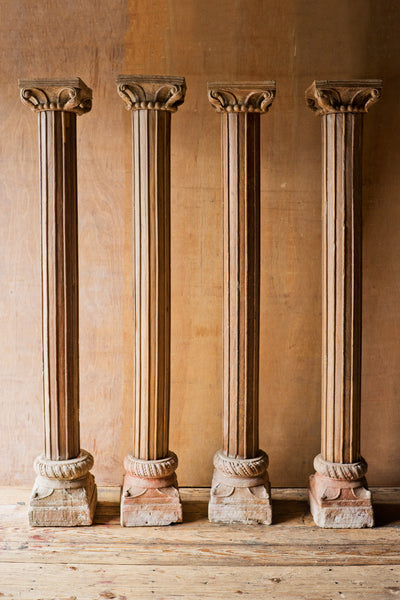 Ornately Carved Columns with Ribbing Details - Columns - Shop Nectar - 1