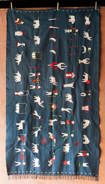 Yoyamay Blue Animal Handmade Fair Trade Textile Blanket - Throw Blankets - Shop Nectar - 1