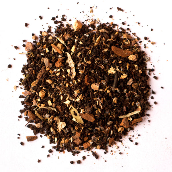 Masala Chai Loose Leaf Tea - caffeinated, cardamom, Chai, Cinnamon, cloves, coffee-teaware, day, Gift, gifts, Indian, kitchen-dining, leaves, loose-leaf-tea, mothers, Staff Picks : Sweets & Savories, sweets-savories, tea, teas, treat