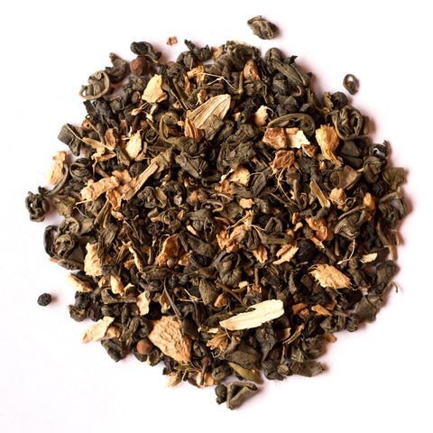 Ginger Green Chai Loose Leaf Tea - caffeinated, Chai, coffee-teaware, green tea, kitchen-dining, loose-leaf-tea, Staff Picks : Sweets & Savories, sweets-savories, tea, Townshend's Teas