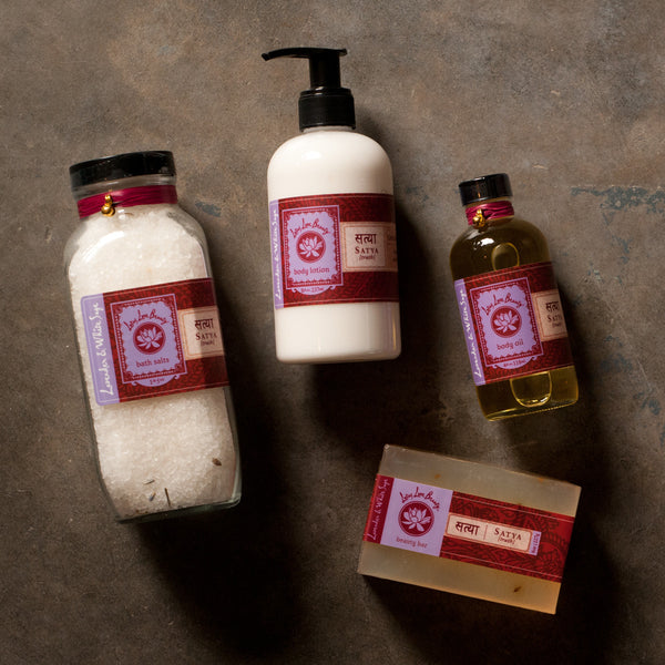 Lotus Love Beauty Satya Lavender and White Sage Bath Collection - Gift Sets - Shop Nectar - 1