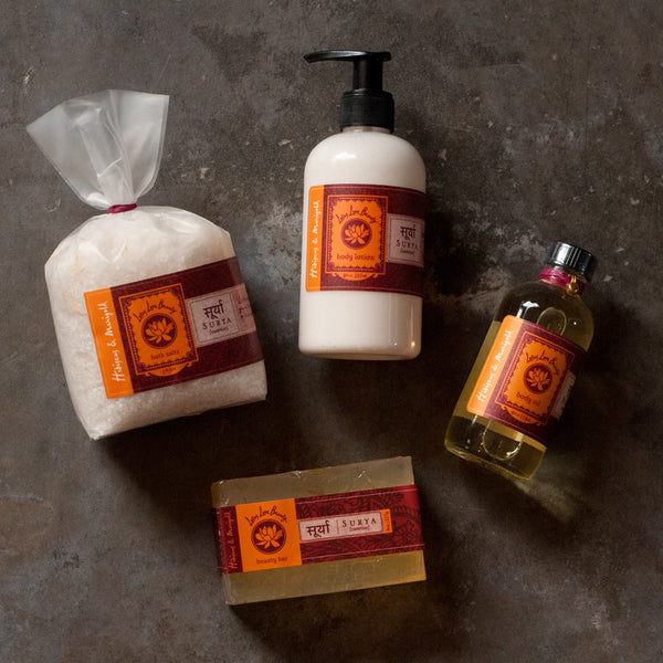 Lotus Love Beauty Surya Hibiscus & Marigold Bath Collection - Gift Sets - Shop Nectar - 1