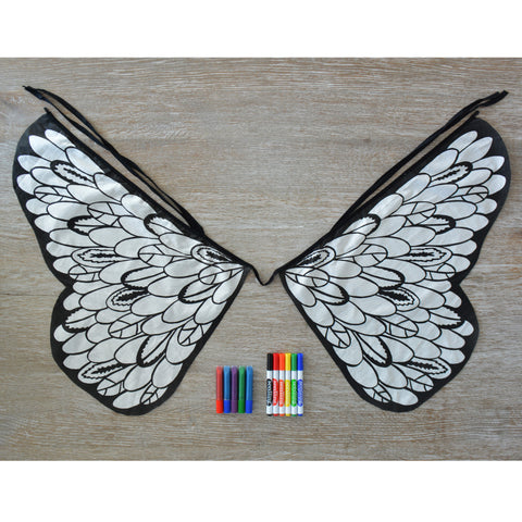 Design Your Own Bird Wings Crafting Kit - activity-kits, bird, bird wings, butterflies, butterfly, child, children, color, coloring, craft, crafting, create, eco-friendly, feather, feathers, fly, fun, game, Glitter, kid, kids, kit, kits, learn, learning, marker, markers, Seedling, toy, Toyko Milk, toys-games, wings
