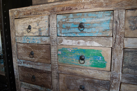 16 Drawer Reclaimed Apothecary Dresser