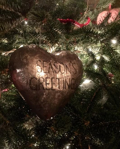 Large heart ornament, silver Christmas ornament, unique Christmas gifts, handmade gifts, shop small