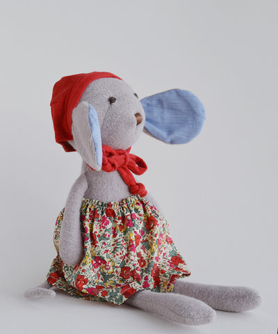 Hazel Village Catalina Mouse - baby-shower-gifts, dolls, dolls-stuffed-animals, gifts-for-the-occasion, hazal, hazal village, new-arrivals-in-kids, organic, organic-cotton