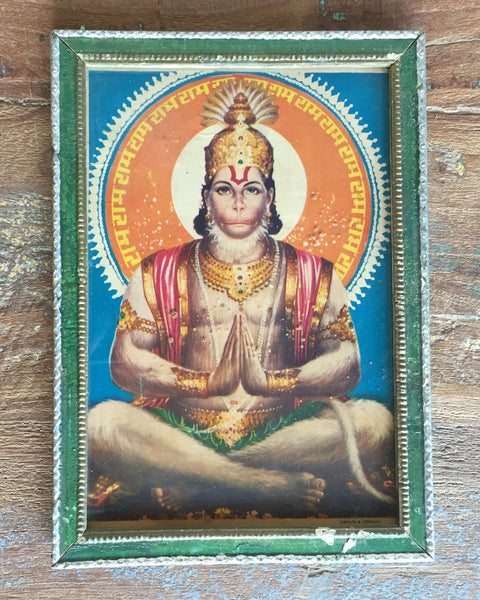 ,hinduism, god, goddess, hindu, vintage, print, antique, Indian, India, Bohemian, Boho, Home decor, wall art, wall hanging, house and home, accent, details, paintings, decor, art, Hanuman, Hanumān, Hanumat, Anuman (Tamil), Hanumantha (Kannada), Hanumanthudu (Telugu), Anoman (Indonesian), Andoman (Malay), Hunlaman (Lao), Anjaneya, Kesari Nandan, Marutinandan, Bajrang Bali, Kera Pemuja Dewa Rama