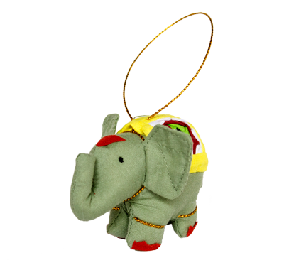 Fair Trade Marquet Elephant Ornaments - assorted-styles, christmas, decor, Elephant, Ellie, fair-trade, Hand Crafted, Hand stiched, handmade, hanging-ornaments, Holiday, holiday-decor, Marquet, ornament